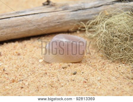 Fluorite On Beach