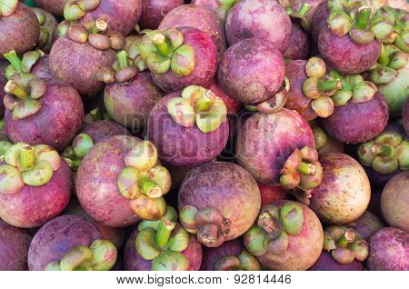 Mangosteen pile for sales weet taste.