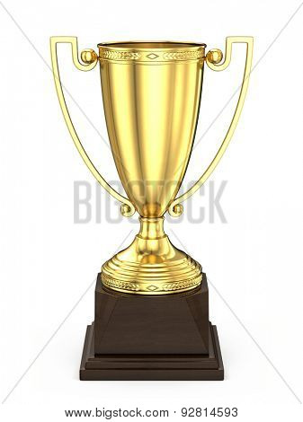 Winner Cup - First Place trophy Cup isolated on white