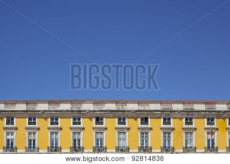 Yellow Buildings Of Lisbon