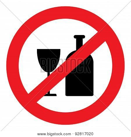 Icon Banning Alcohol