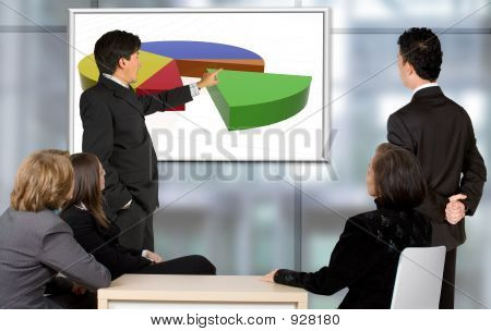 Corporate Trainning - Man Presenting