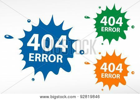 404 Error. Page Not Found On Color Blob
