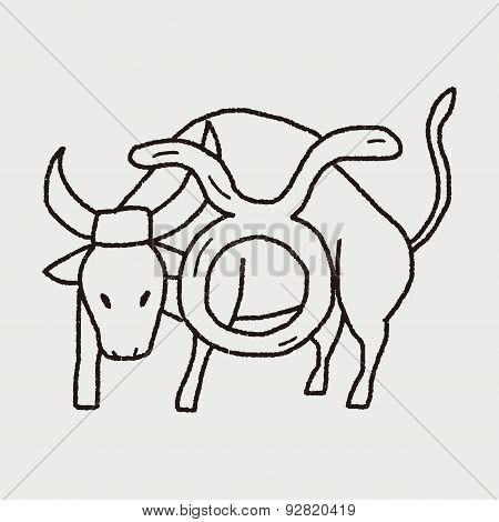 Taurus Constellation Doodle