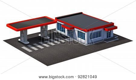 Gas Station And Coffe Shop