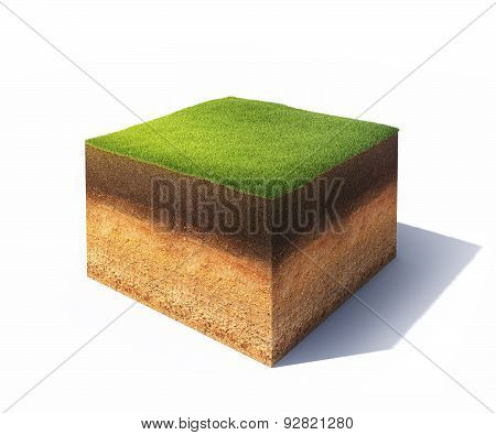 Isometric Cross Section Of Ground