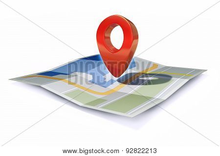 Location Icon Or Pin Pointer On Map
