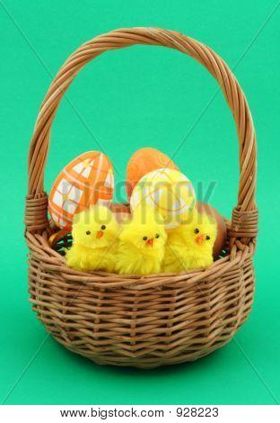Easter Basket On Green