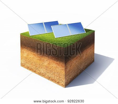 Ground With Solar Panels