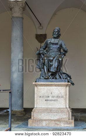 Statue Of A Matteo Civitali, Lucca, Italy