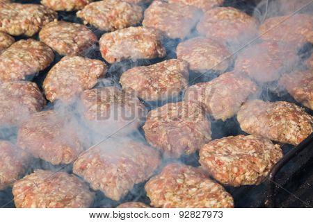 Meatballs On Grill