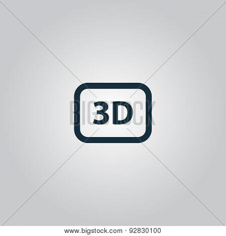 three-dimensional vector icon