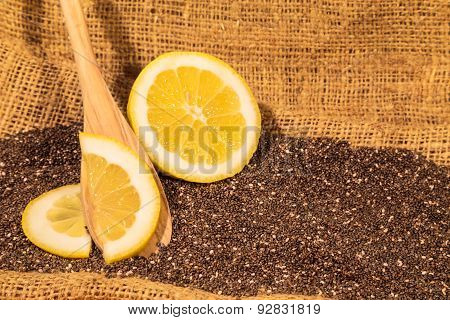 Chia Seeds With Lemon Slices