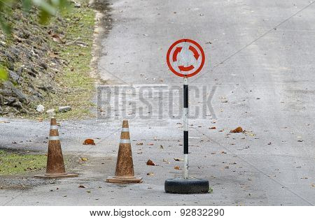 Road Sign Traffic Rotary