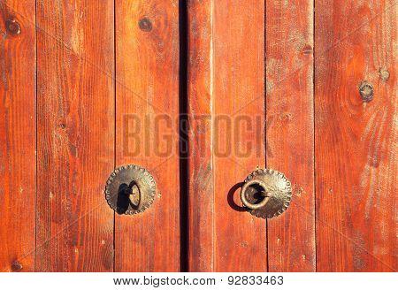 Closed Vintage Wooden Door