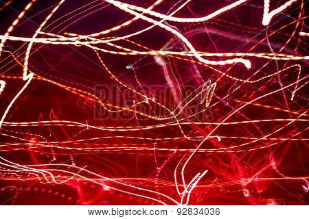 Abstract Red Laser Lights
