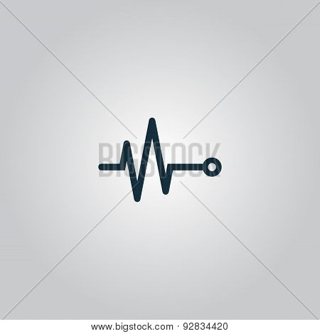 life line - Heart beat, cardiogram.