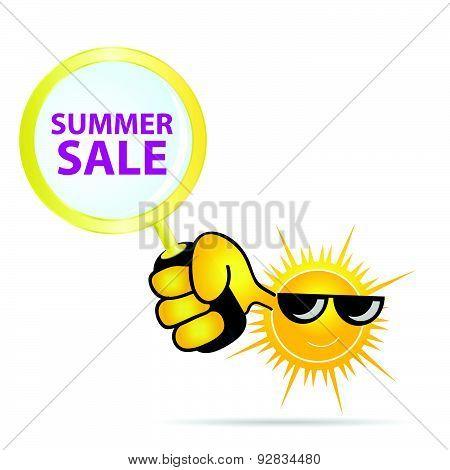 Summer Sale Sun Color Vector