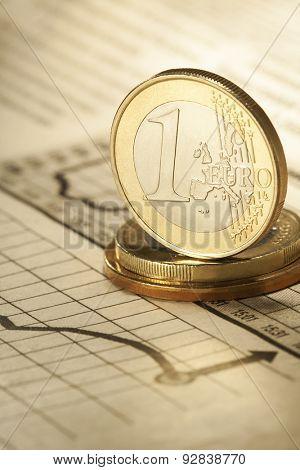 one euro on newspaper chart