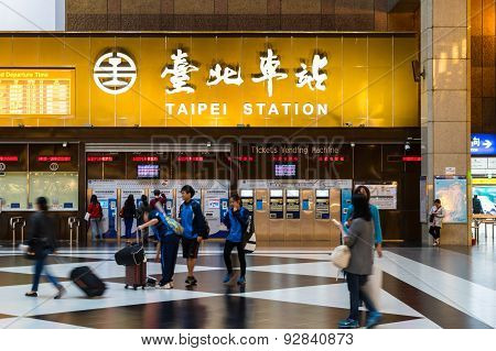 Taipei Station is the main transportation hub
