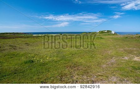 Coastal landscape and fisherman's house