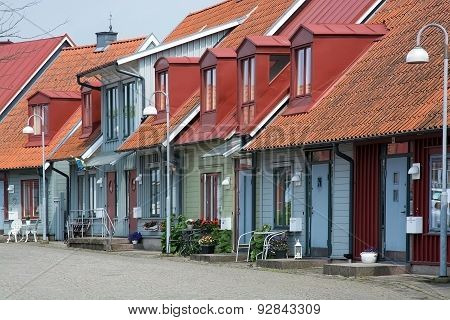 Picturesque colorful homes in Old Town