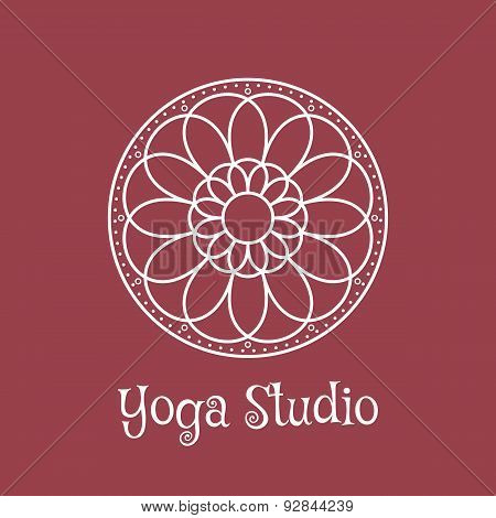 Yoga Studio Vector Logo Template