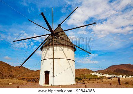 Almeria Molino Pozo de los Frailes windmill traditional in Spain