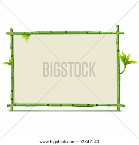 Vector Green Bamboo Frame