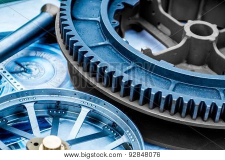 Abstract Image Of A Cog And Wheel