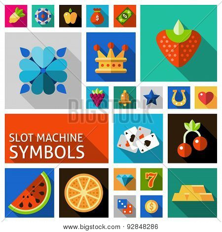 Slot machine symbols set
