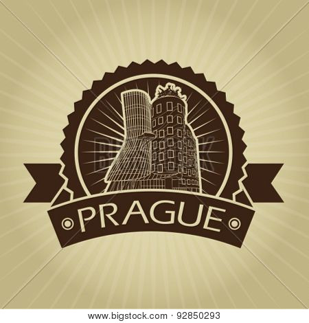 Vintage Retro Prague Dancing House Seal