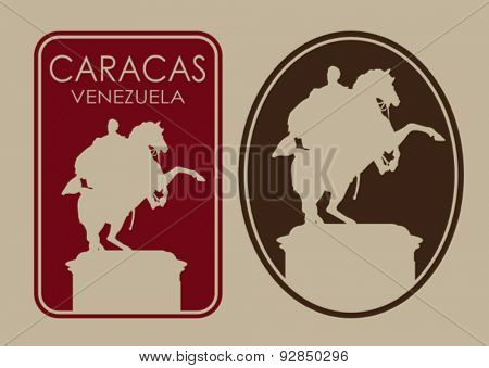 Caracas Venezuela Seal Label