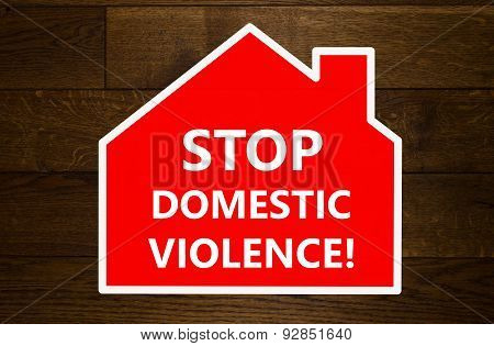 Stop domestic violence message