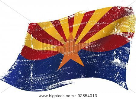 Arizona grunge flag. A flag of Arizona with a grunge texture