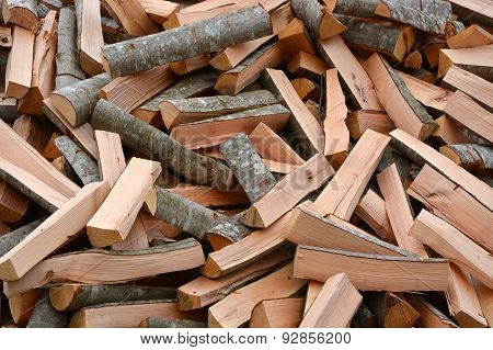 Pile Of The Firewoods. Picture Can Be Used As A Background