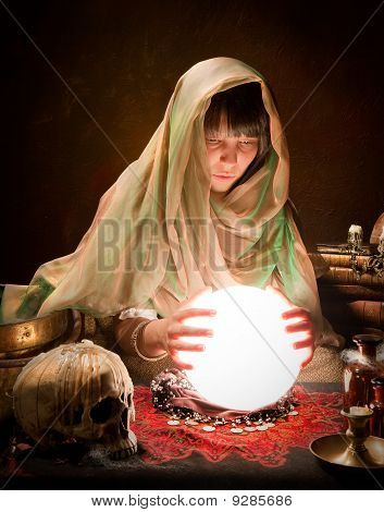 Astrology Gypsy With Crystal Ball