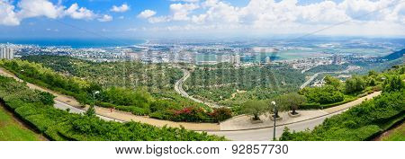 Panoramic View Of The Bay Of Haifa