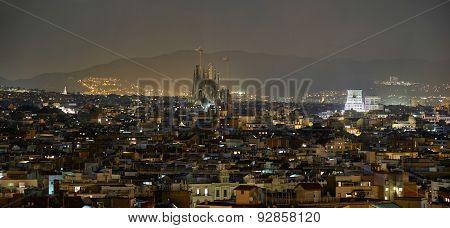 Barcelona Night View