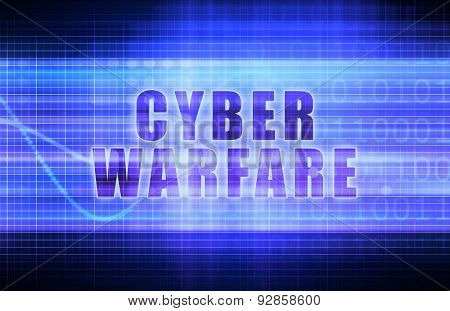 Cyber Warfare on a Tech Business Chart Art