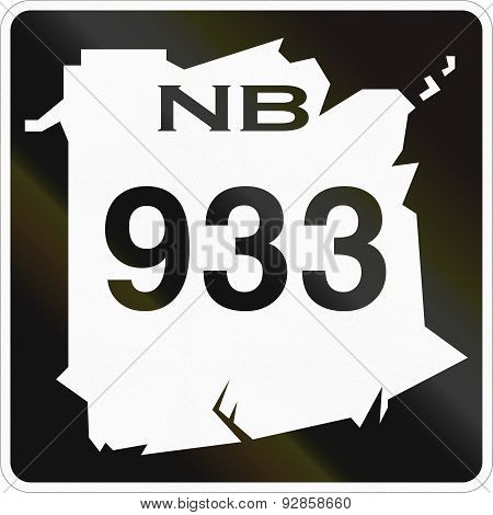 New Brunswick Highway Marker 933