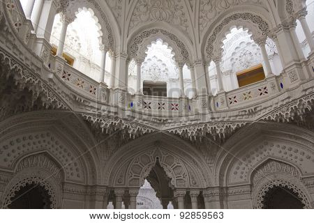 White Room Inside Sammezzano Castle In Italy