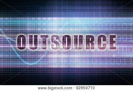Outsource on a Tech Business Chart Art