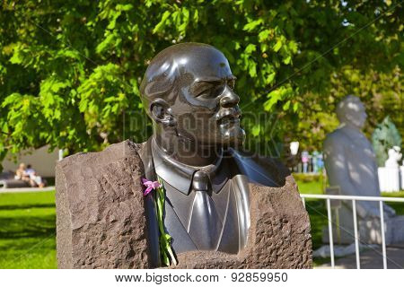 Vladimir Lenin monument - in Moscow Russia