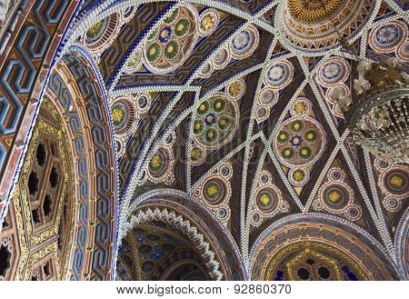The Ceiling Of The Octagon Room In Sammezzano Castle