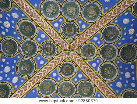 Close Up Detail Of A Ceiling