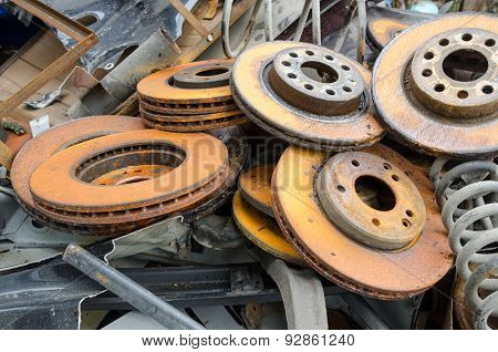 Useless  and rusty brake discs