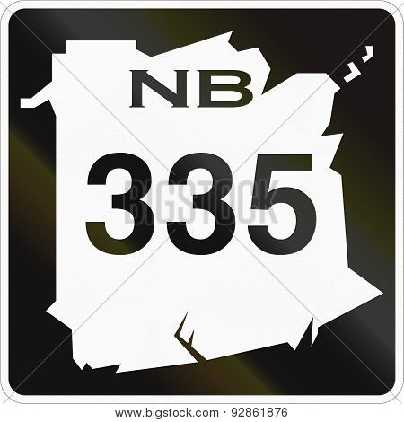 New Brunswick Highway Marker 335
