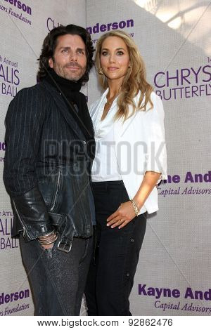 LOS ANGELES - JUN 6:  Greg Lauren, Elizabeth Berkley at the 14th Annual Chrysalis Butterfly Ball at the Private Residence on June 6, 2015 in Los Angeles, CA