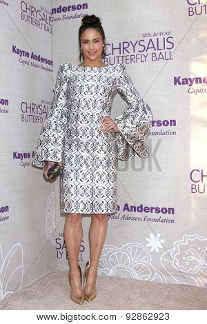 LOS ANGELES - JUN 6:  Paula Patton at the 14th Annual Chrysalis Butterfly Ball at the Private Residence on June 6, 2015 in Los Angeles, CA
